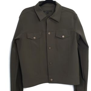 Theory Green Casual Jacket Large